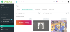 Sélection d'un réseau social pour une publication de jeu digital